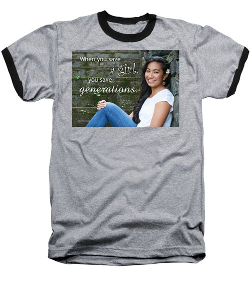 Save A Girl Baseball T-Shirt