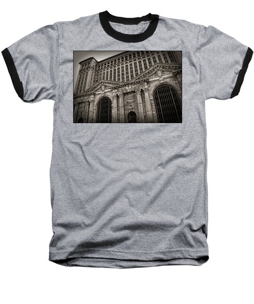 Save The Depot - Michigan Central Station Corktown - Detroit Michigan Baseball T-Shirt by Gordon Dean II
