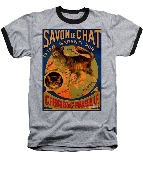 Savon Le Chat Antique French Poster Baseball T-Shirt