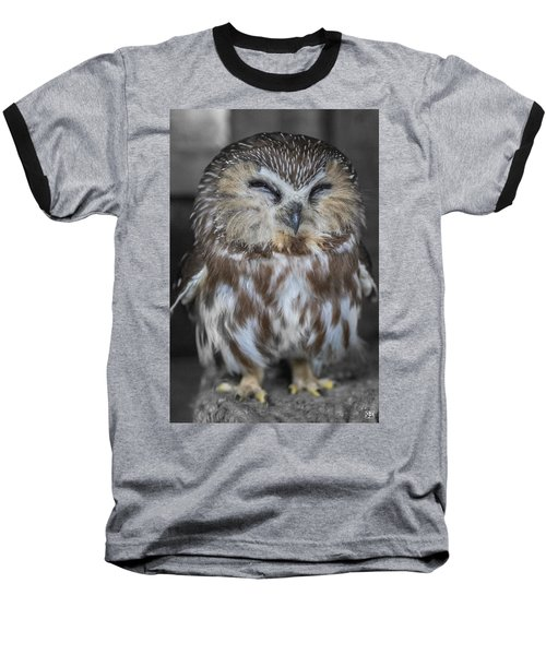 Saw Whet Owl Baseball T-Shirt