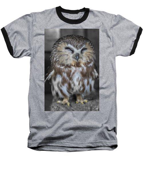 Saw Whet Owl Baseball T-Shirt
