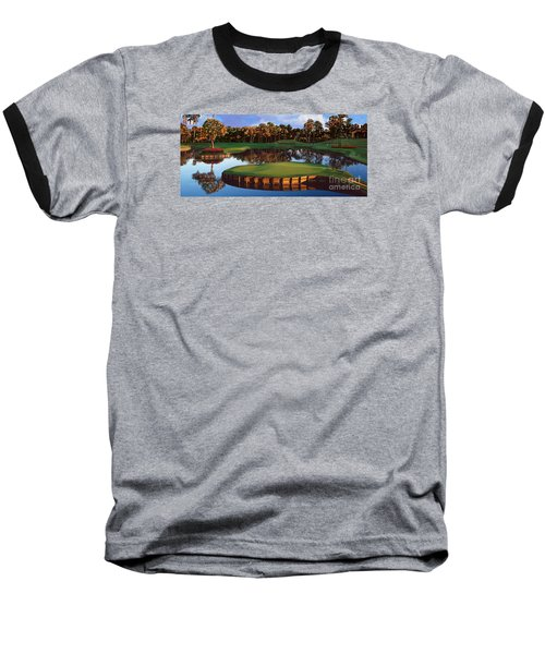 Sawgrass 17th Hole Hol Baseball T-Shirt by Tim Gilliland