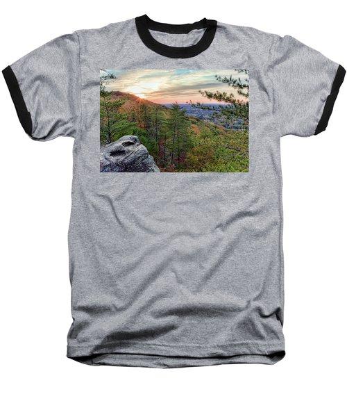Sawnee Mountain And The Indian Seats Baseball T-Shirt