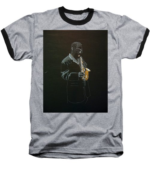 Sax Player Baseball T-Shirt