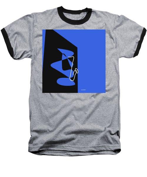 Saxophone In Blue Baseball T-Shirt
