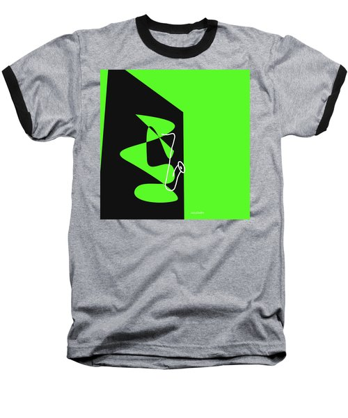 Saxophone In Green Baseball T-Shirt
