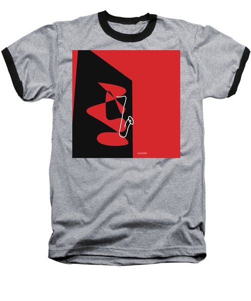 Saxophone In Red Baseball T-Shirt