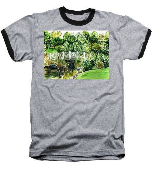 Sayen Bridge Baseball T-Shirt by Clara Sue Beym