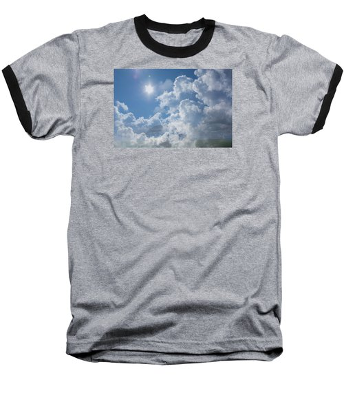 Sayers Homestead In The Clouds Baseball T-Shirt by Ellery Russell