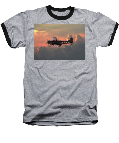 Baseball T-Shirt featuring the digital art  Sbd - Dauntless by Pat Speirs