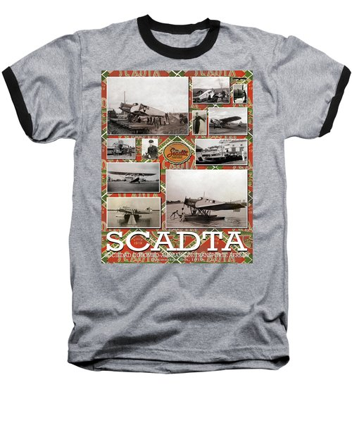 Scadta Airline Poster Baseball T-Shirt