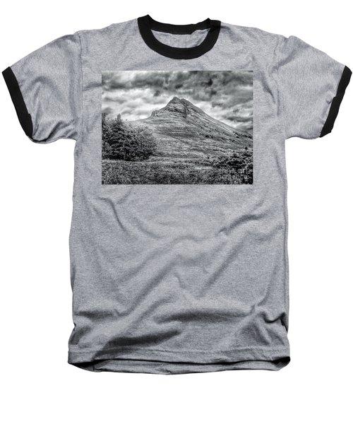 Scafell Pike In Greyscale Baseball T-Shirt
