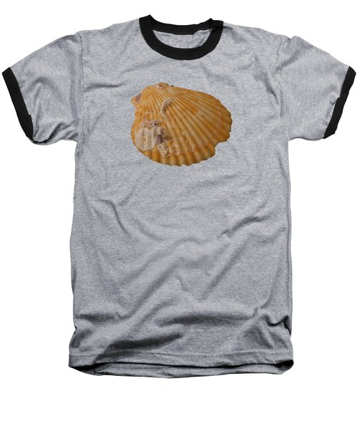 Scallop Shell With Guests Transparency Baseball T-Shirt