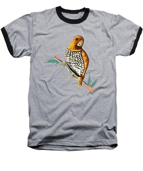 Scaly Breasted Munia Baseball T-Shirt by Thecla Correya