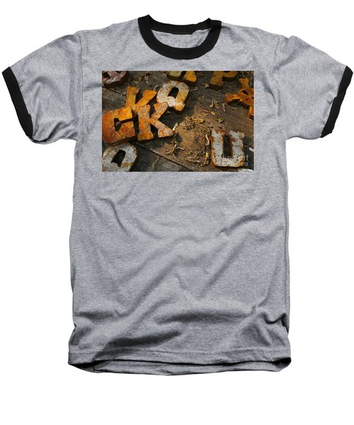 Baseball T-Shirt featuring the photograph Scamble Letters by Randy Pollard