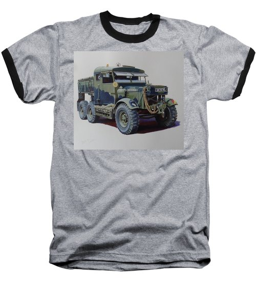 Scammell Pioneer Wrecker. Baseball T-Shirt by Mike  Jeffries