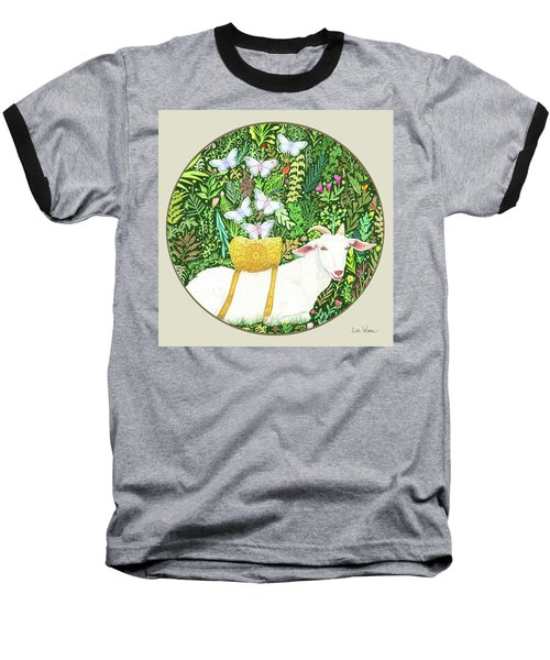 Scapegoat Button Baseball T-Shirt