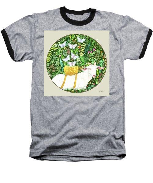 Scapegoat Button Baseball T-Shirt