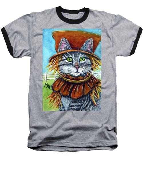 Scarecrow Tabby Baseball T-Shirt