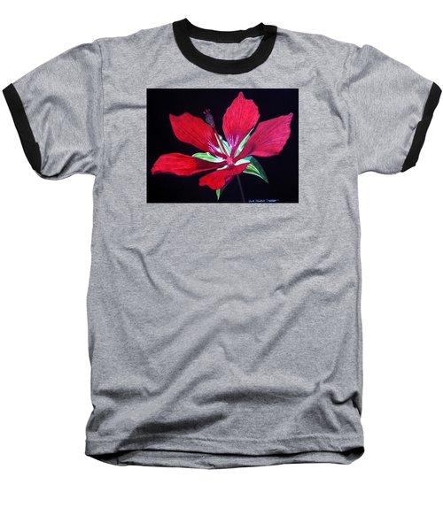 Scarlet Baseball T-Shirt by Anita Putman