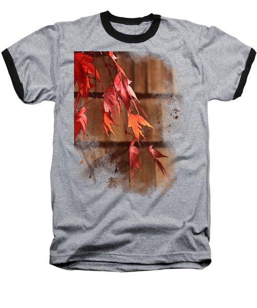 Scarlet Cascade Baseball T-Shirt