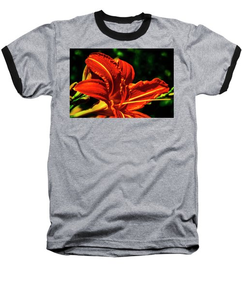 Baseball T-Shirt featuring the photograph Scarlet Flower  by Joseph Hollingsworth