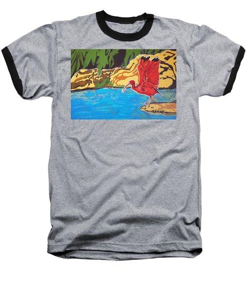 Scarlet Ibis Baseball T-Shirt