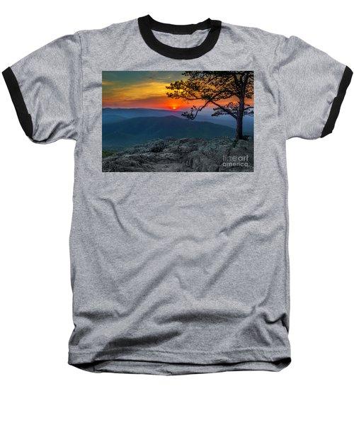 Scarlet Sky At Ravens Roost Baseball T-Shirt