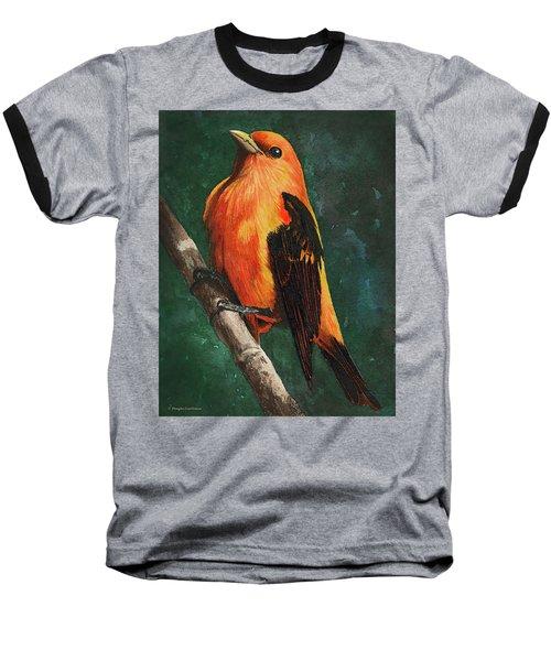 Scarlet Tanager Baseball T-Shirt