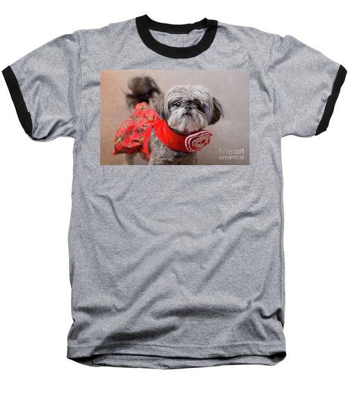 Scarlett In Christmass Dress Baseball T-Shirt
