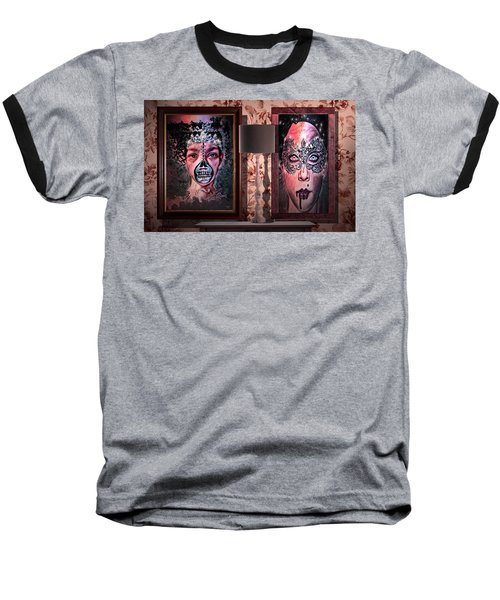 Scary Museum Wallart Baseball T-Shirt