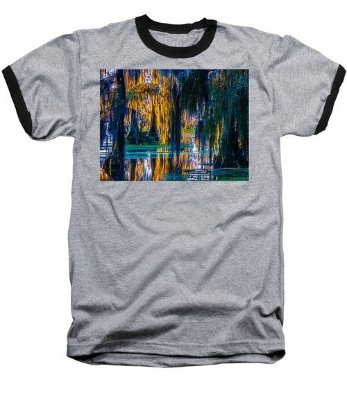 Scary Swamp In The Daytime Baseball T-Shirt