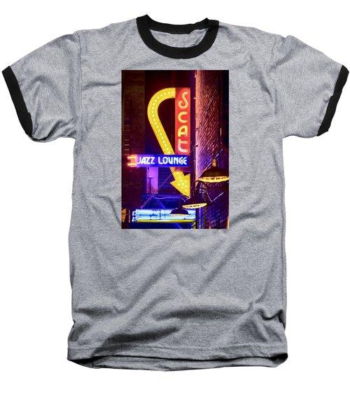 Scat Jazz Neon V3 Baseball T-Shirt