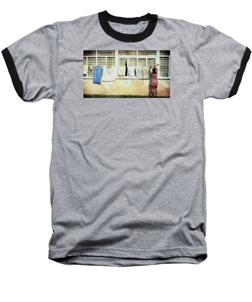 Scene Of Daily Life Baseball T-Shirt