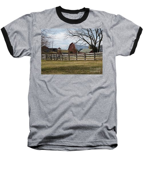 Scene On The Farm Baseball T-Shirt