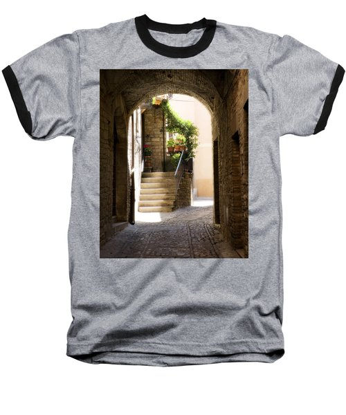 Scenic Archway Baseball T-Shirt by Marilyn Hunt