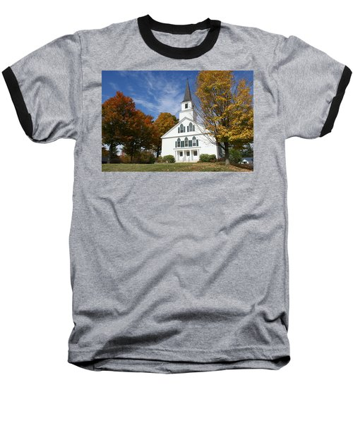 Scenic Church In Autumn Baseball T-Shirt by Lois Lepisto