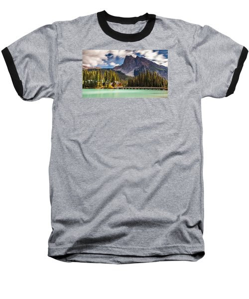 Scenic Emerald Lake  Baseball T-Shirt