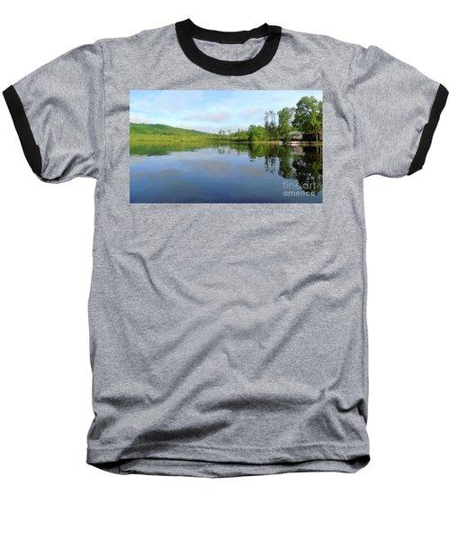 Scenic Gorham Pond #1 Baseball T-Shirt