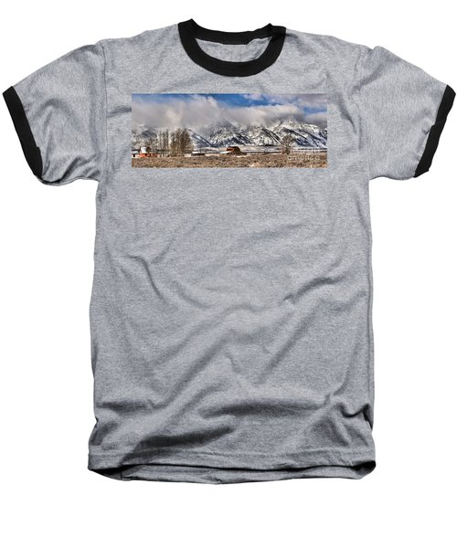 Baseball T-Shirt featuring the photograph Scenic Mormon Homestead by Adam Jewell
