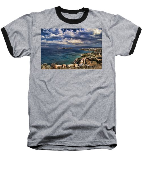 Scenic View Of Eastern Crete Baseball T-Shirt by David Smith