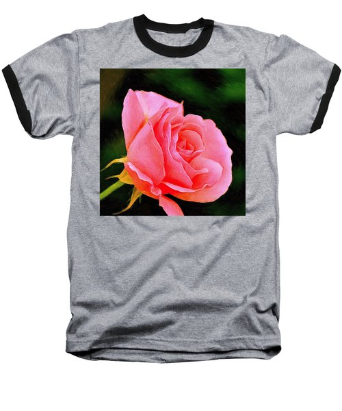 Scented Pink Rose Baseball T-Shirt