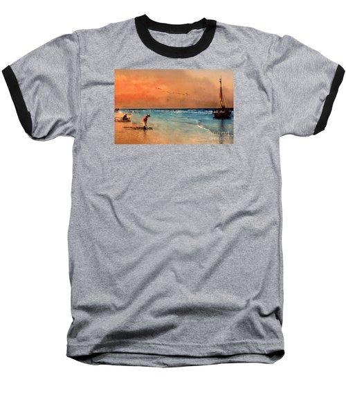 Baseball T-Shirt featuring the photograph Scheveningen by John  Kolenberg