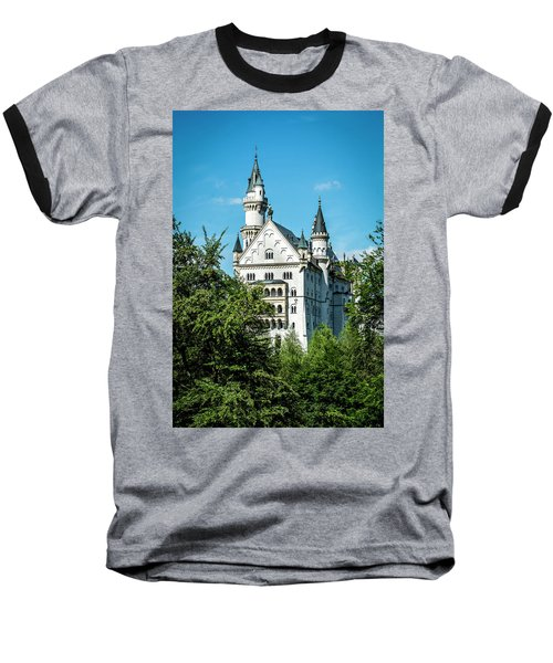 Baseball T-Shirt featuring the photograph Schloss Neuschwantstein by David Morefield