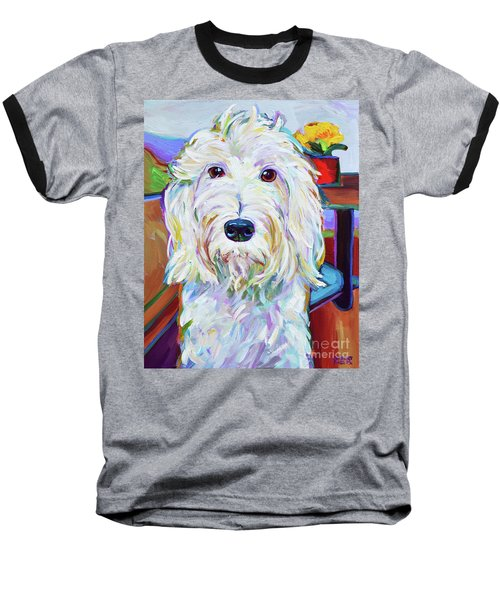 Baseball T-Shirt featuring the painting Schnoodle by Robert Phelps
