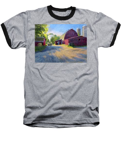 Schober's Barn At Sunset Baseball T-Shirt