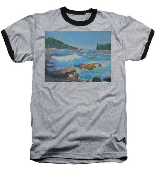 Baseball T-Shirt featuring the painting Schoodic Inlet by Francine Frank