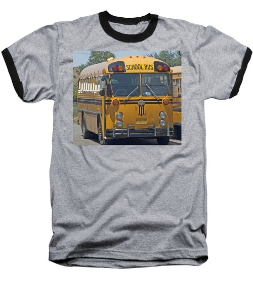 School Bus Baseball T-Shirt