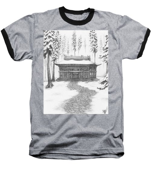 School In The Snow Baseball T-Shirt