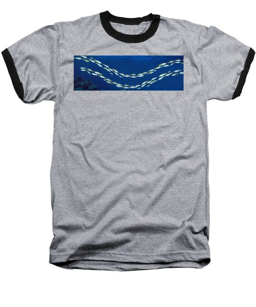 School Of Fish Great Barrier Reef Baseball T-Shirt